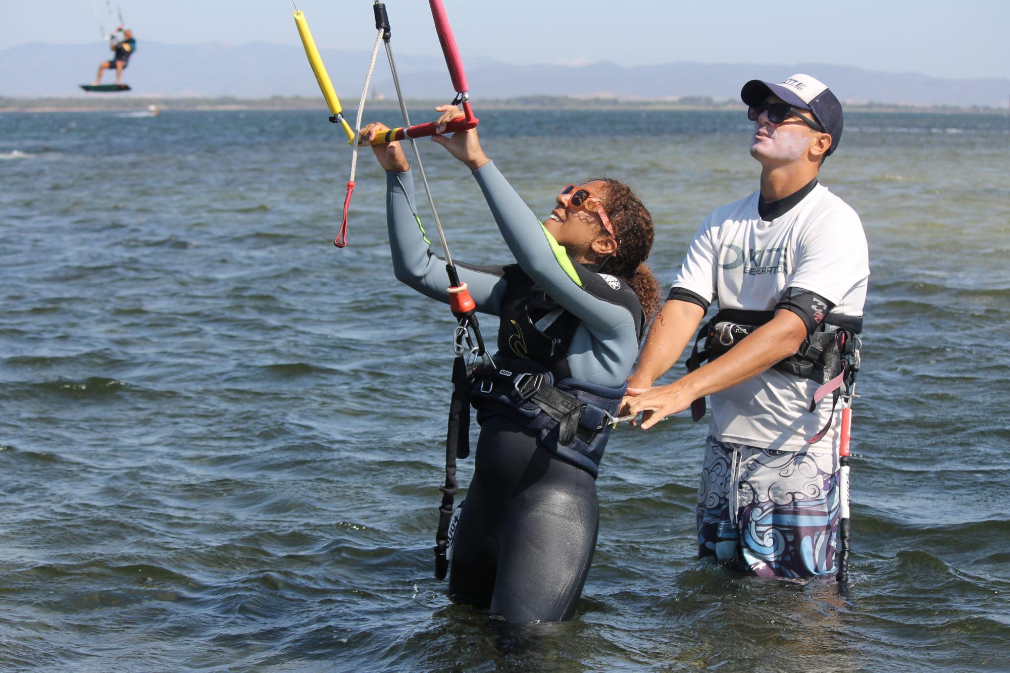 Punta Trettu Kitesurf School : Kite, Surf, SUP, Snorkeling in Punta Trettu, Sardinia