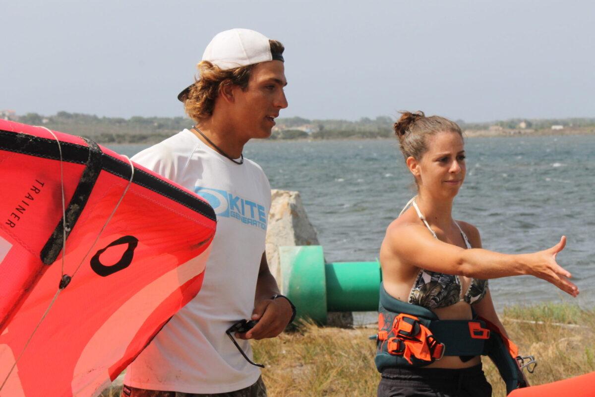 Kitesurfing in Punta Trettu, My experience
