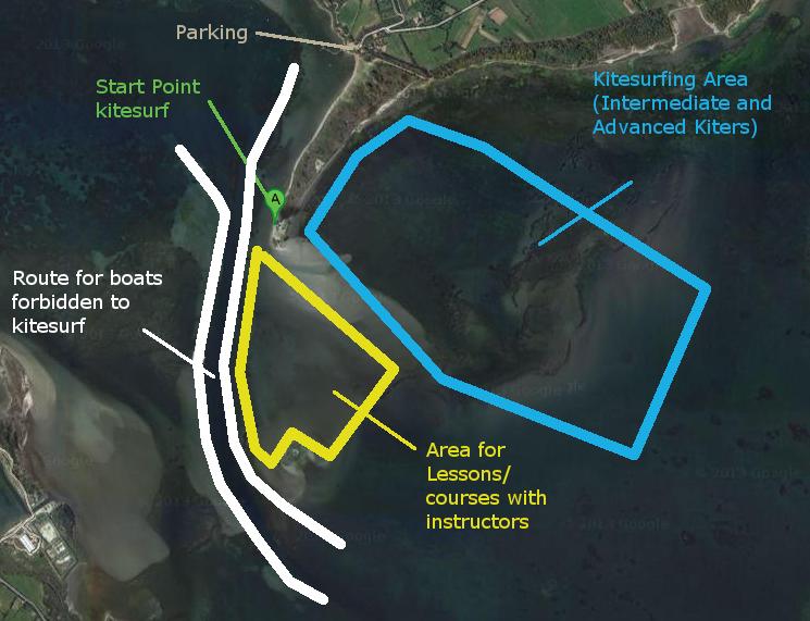 Punta Trettu Kitesurf Maps